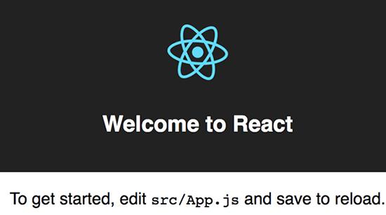 React Welcome Screen